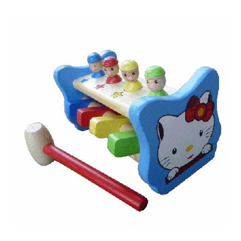 Istana Bintang Kayu Palu Badut Mainan Anak