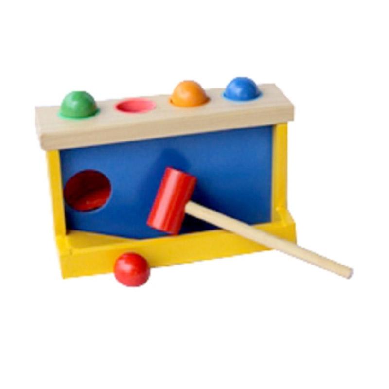 Istana Bintang Kayu Palu Bola Mainan Anak
