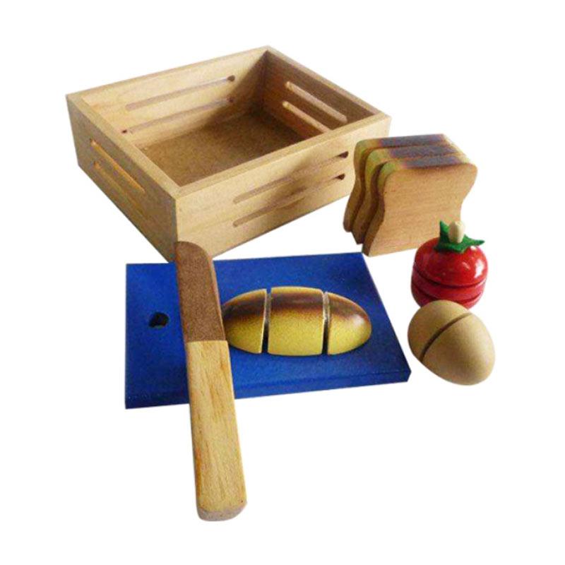 Istana Bintang Mainan Kayu Roti Potong Mainan Anak