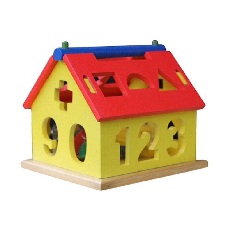 Istana Bintang Mainan Kayu Rumah Angka Mainan Anak