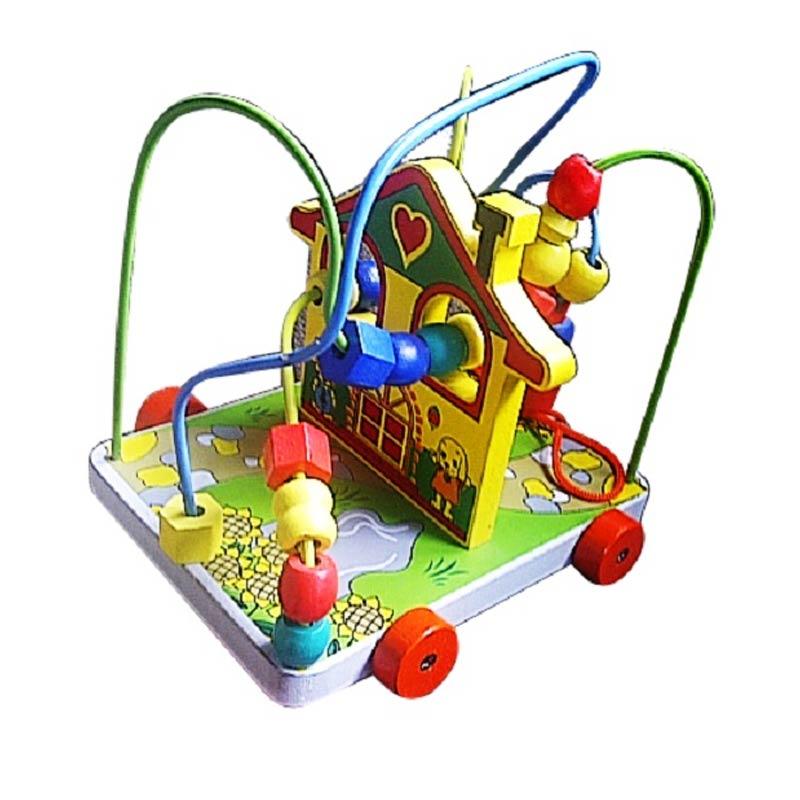 Istana Bintang Mainan Kayu Wire Game Rumah Kelinci Mainan Anak