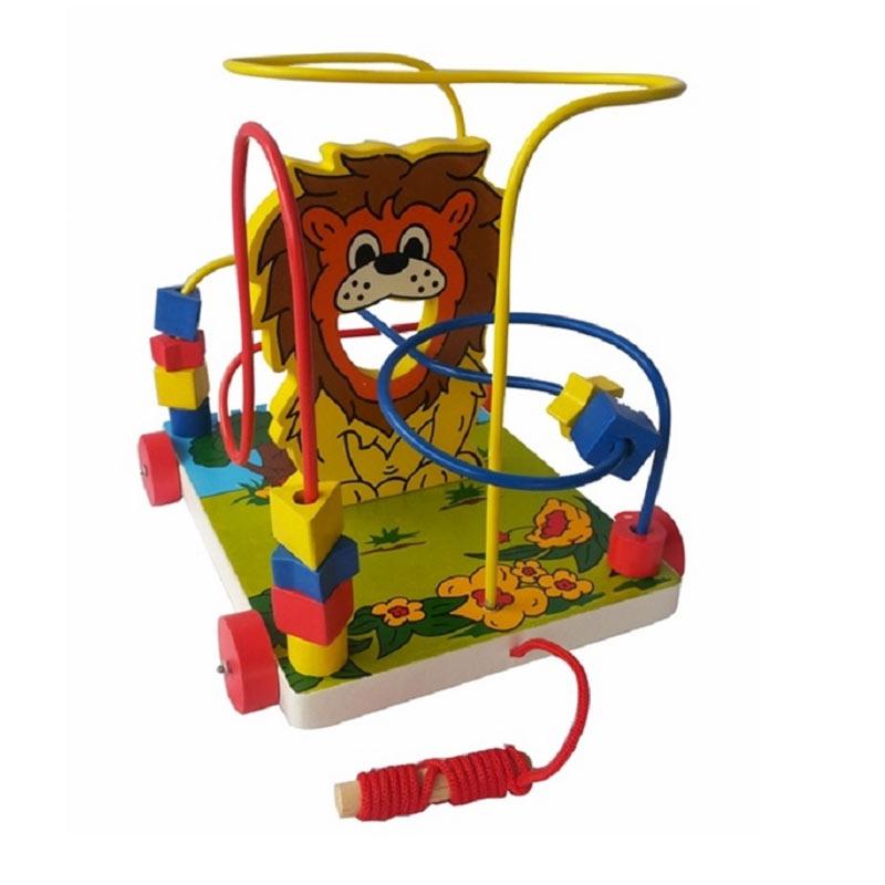 Istana Bintang Mainan Kayu Wire Game Singa Mainan Anak