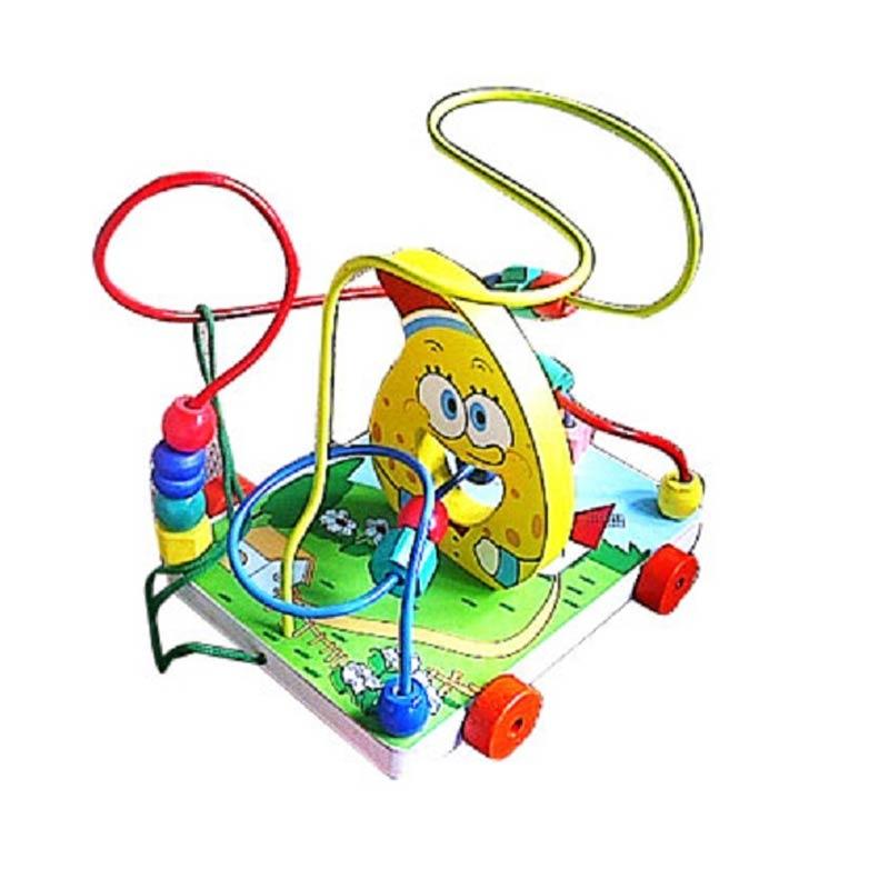 Istana Bintang Mainan Kayu Wire Game Spongebob Mainan Anak