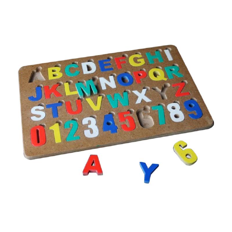 Istana Bintang Puzzle Huruf Besar dan Angka Mainan Anak