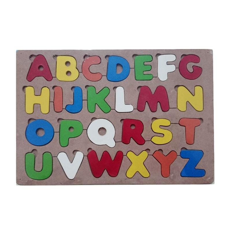 Istana Bintang Puzzle Huruf Besar Mainan Kayu