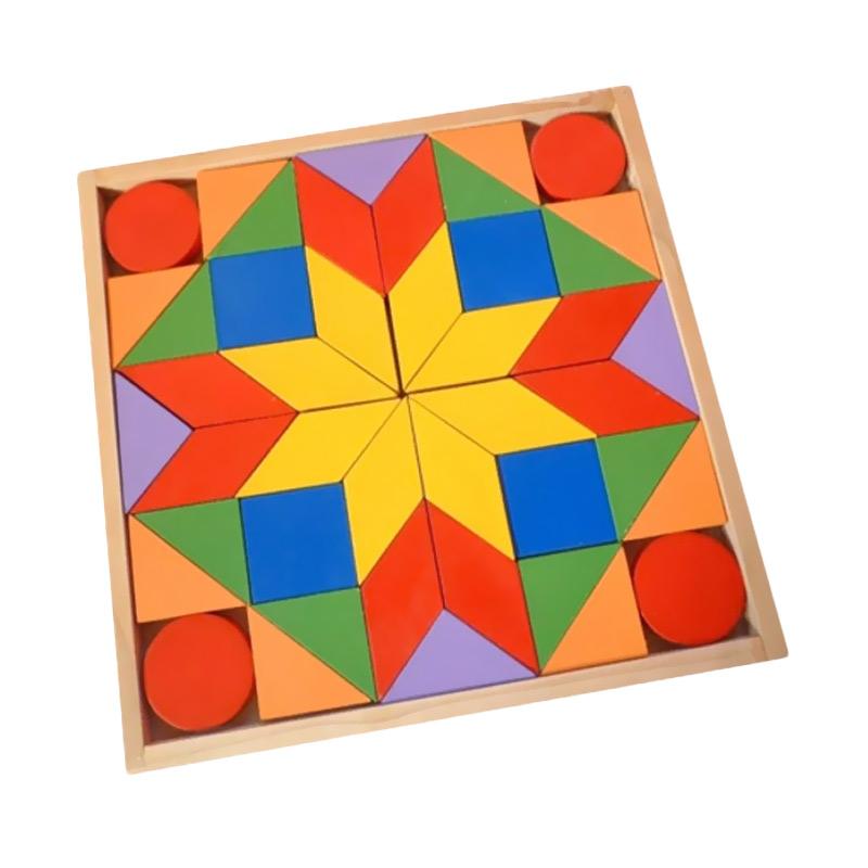 Istana Bintang Tangram 44 Mainan Kayu