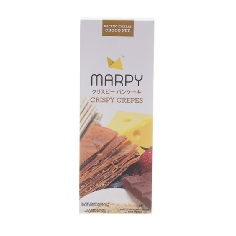 Marpy Crispy Choco Nut Crepes Cemilan [3 Pcs]