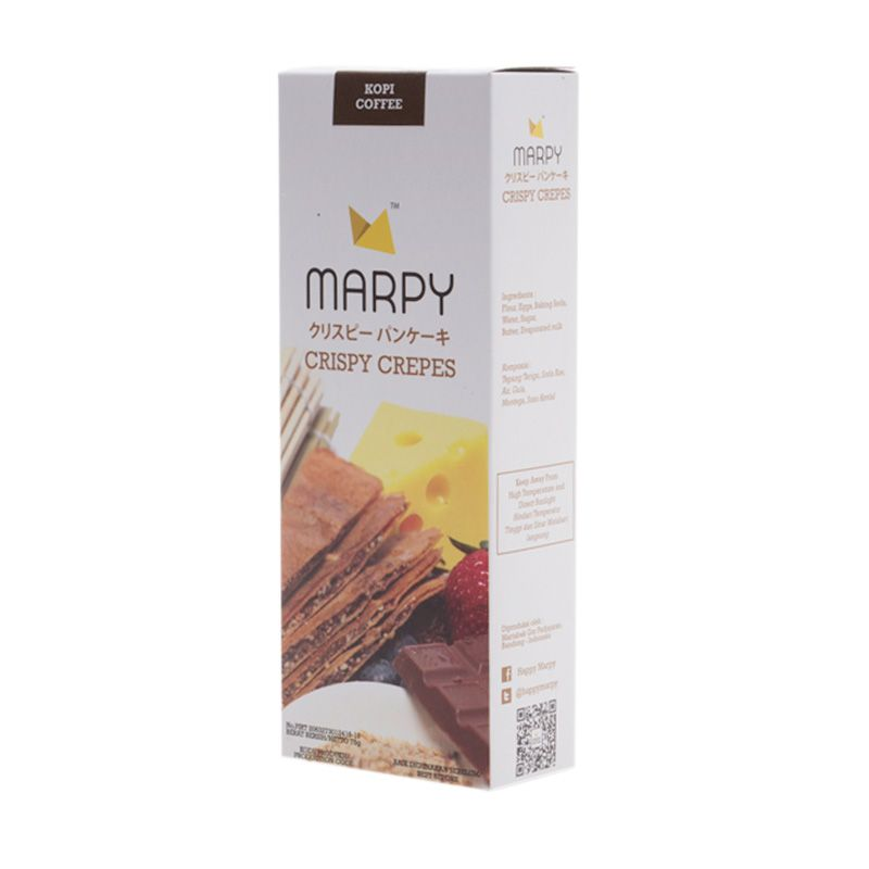 Marpy Crispy Coffee Crepes Cemilan [3 Pcs]