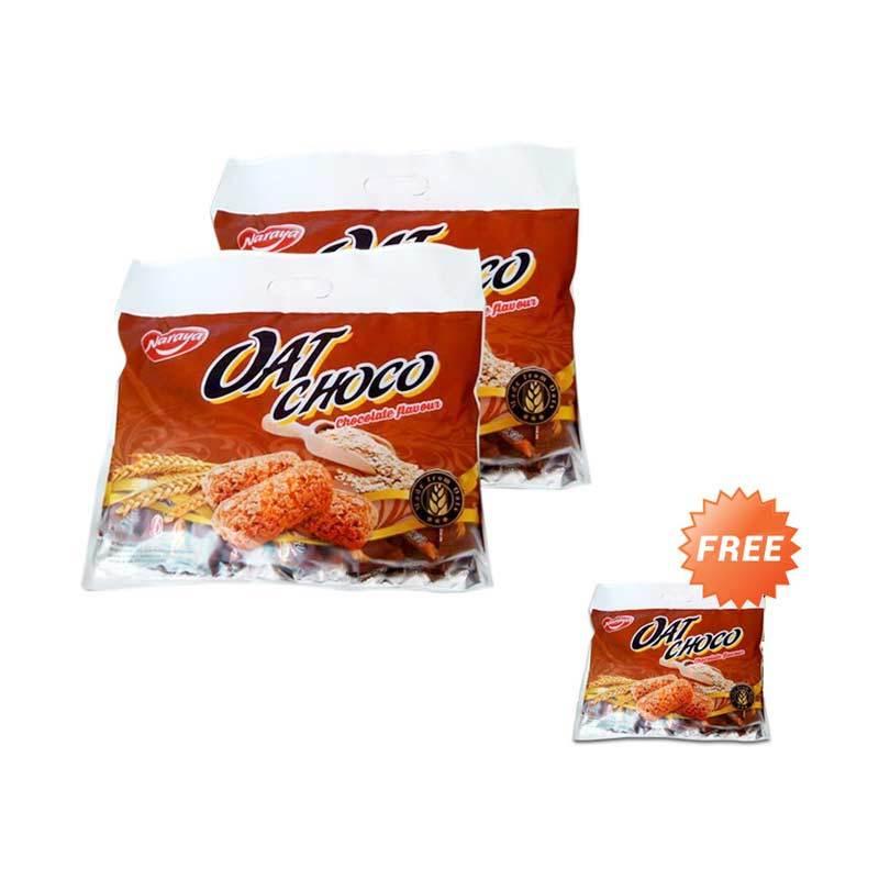 Buy 2 Get 1 - Naraya Oat Choco Coklat Menu Sarapan