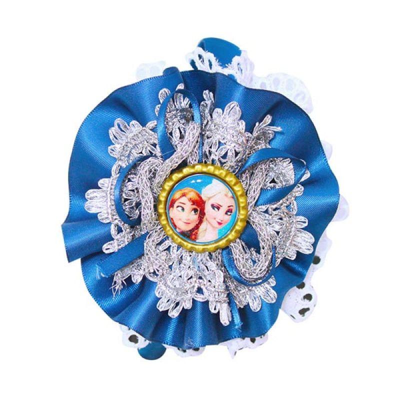 Istana kado Frozen Renda Biru Tua Bando