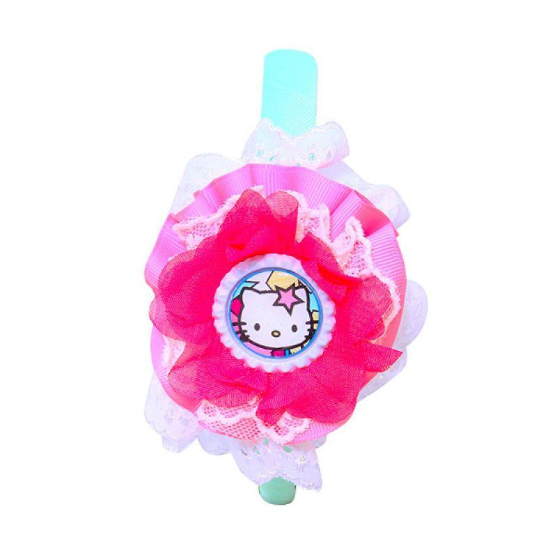 Istana kado Ring Hello Kitty Renda Pita Pink Hijau Bando