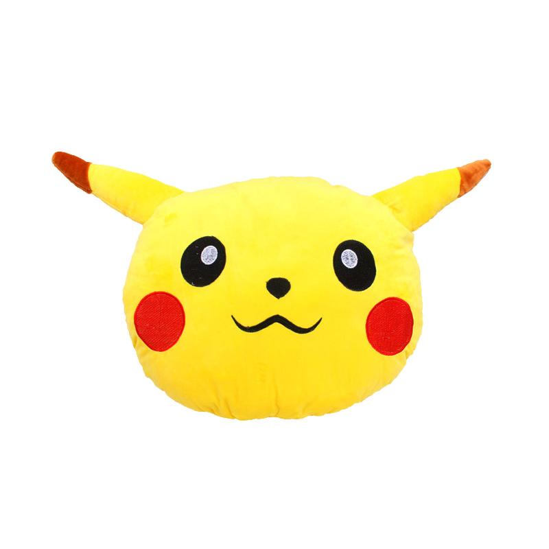 Istana Kado Kepala Oval Pokemon Pikachu Head Bantal - Kuning
