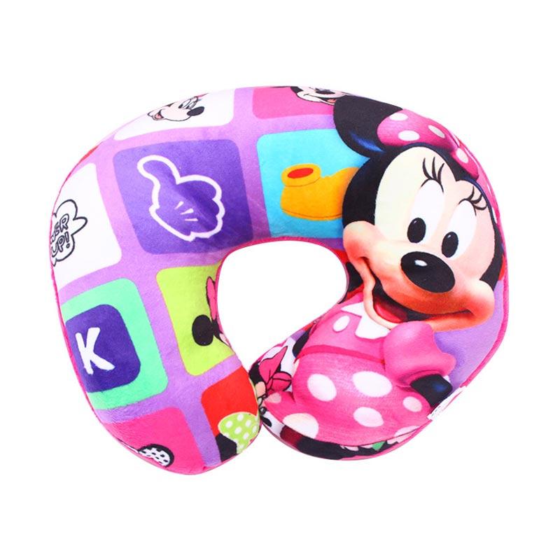 Istana Kado Bulat Print Karakter Minnie Mouse Bantal Leher