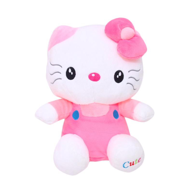 Istana Kado Hello Kitty Duduk Variasi Tanktop Kancing Boneka - Pink [Size M]