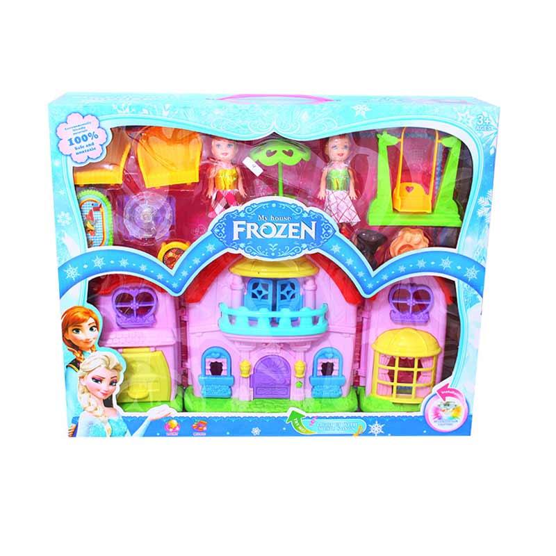 Istana Kado House Set Frozen Elsa Anna Mainan Anak