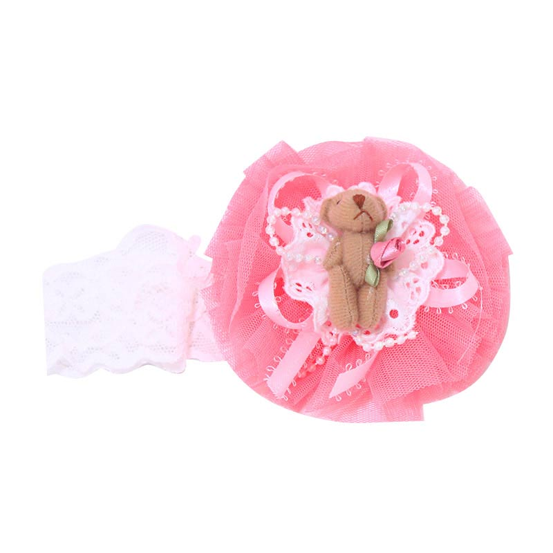 harga Istana Kado Teddy Bear Renda Jaring Bandana - Peach Blibli.com