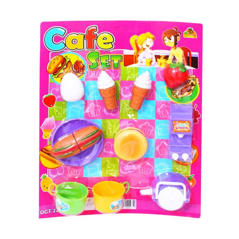 Istana Kado Mainan Anak Cafe Set Food & Drink - Pink