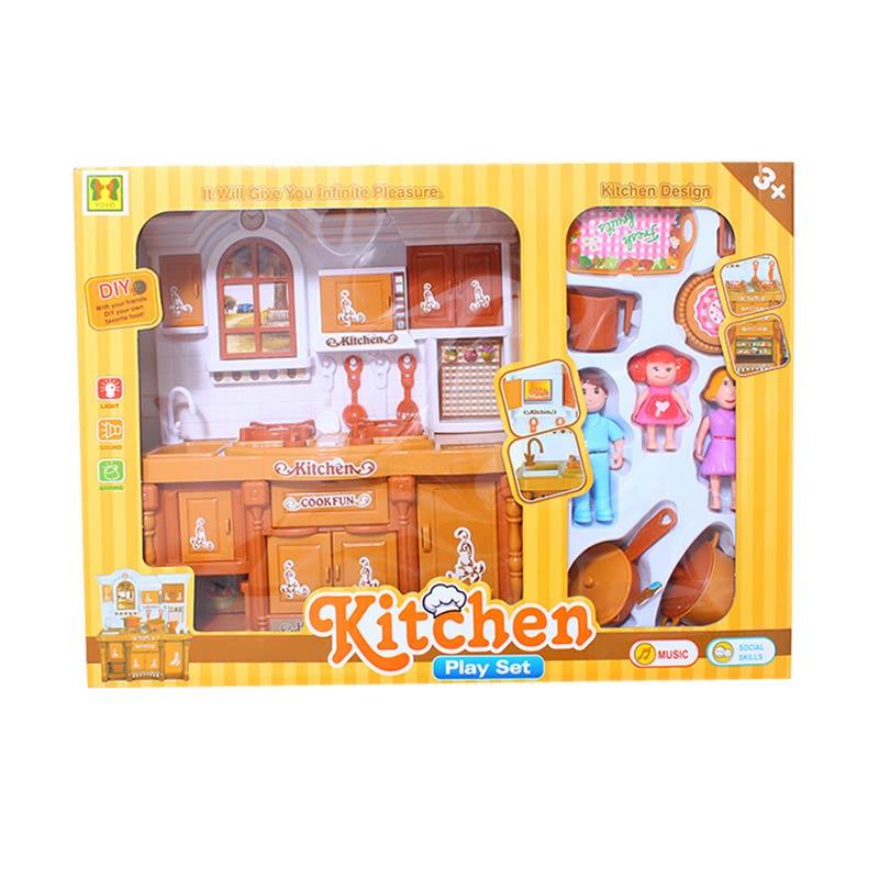 Istana Kado Kitchen Play Set Kayu Wood Design Mainan Anak