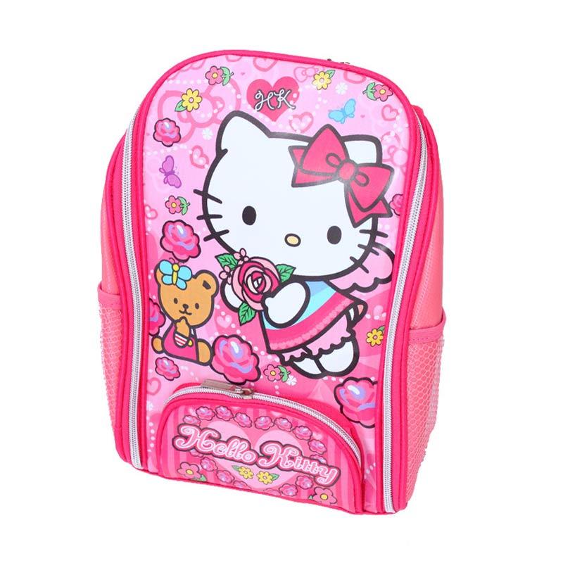 Istana Kado Online Tas Sekolah Anak Hello Kitty Tas Ransel - Pink