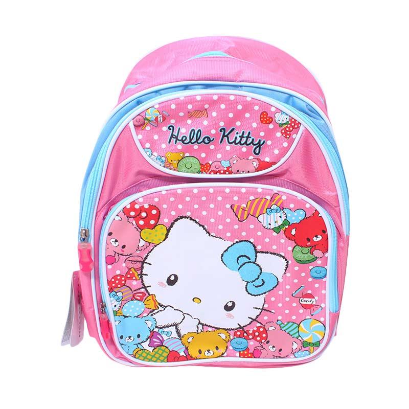 Istana Kado Ransel DL0114 Hello Kitty Tas Sekolah Anak - Pink [14 inch]