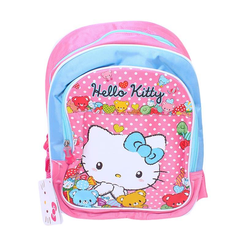 Istana Kado Ransel DL0214 Hello Kitty Tas Sekolah Anak - Pink [14 inch]