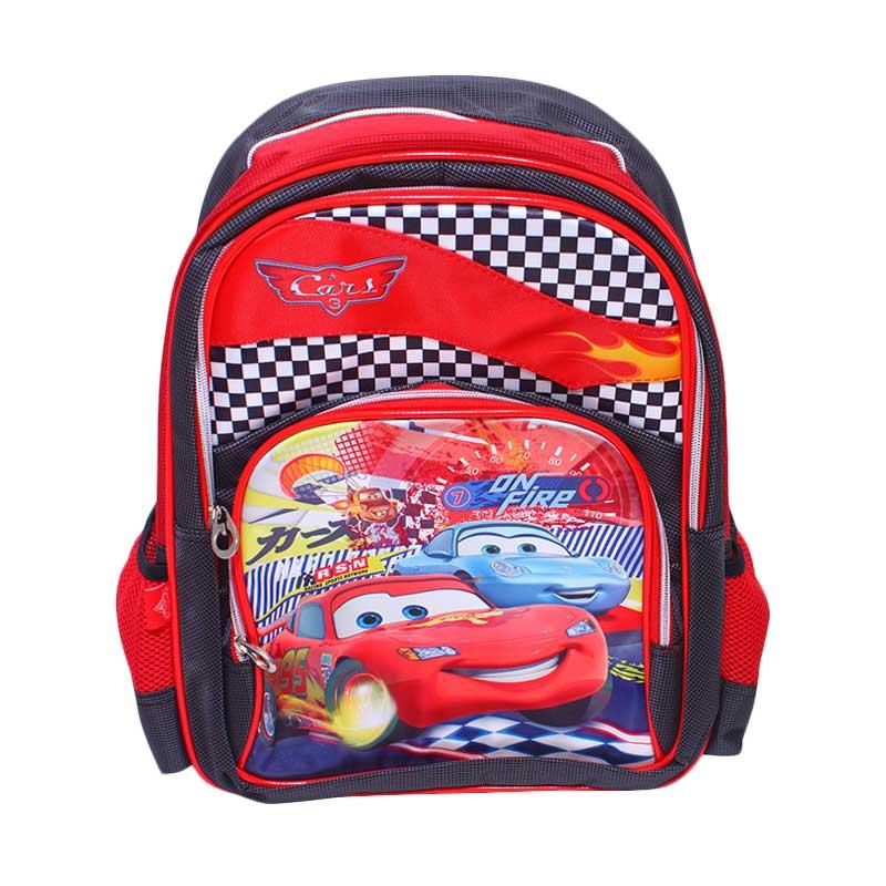 Istana Kado Ransel DL0618 Cars Tas Sekolah Anak - Merah [16 inch]