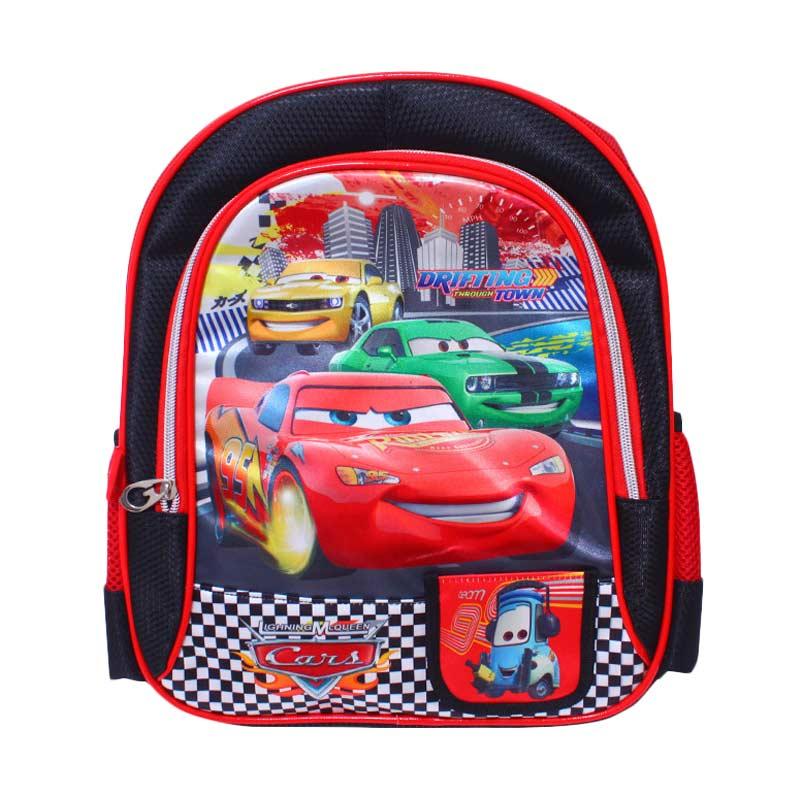 Istana Kado Ransel DL0627 Cars Tas Sekolah Anak - Merah [12 inch]