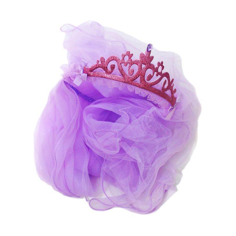Istana Kado Bando Princess Pengantin Mahkota Ungu Aksesoris Rambut