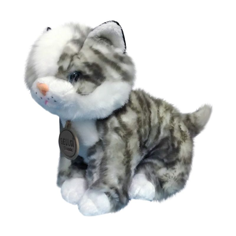 Istana Kado Online Binatang Sitting Cat Mio Grey Boneka [10 Inch]