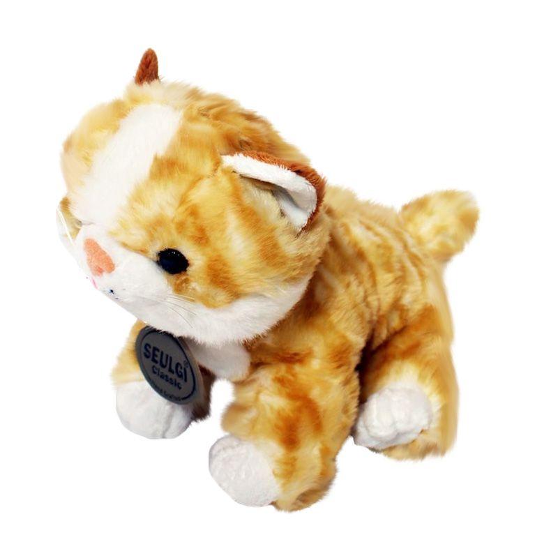 Istana Kado Online Binatang Sitting Cat Mio Yellow Boneka [10 Inch]