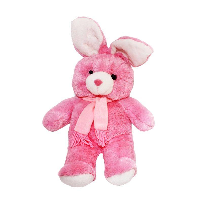 Istana Kado Online Kelinci Bunny Rabbit Syal Pink Boneka [28 Inch]