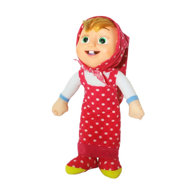 Istana Kado Online Marsha Girl Polkadot Merah Boneka [13 Inch]