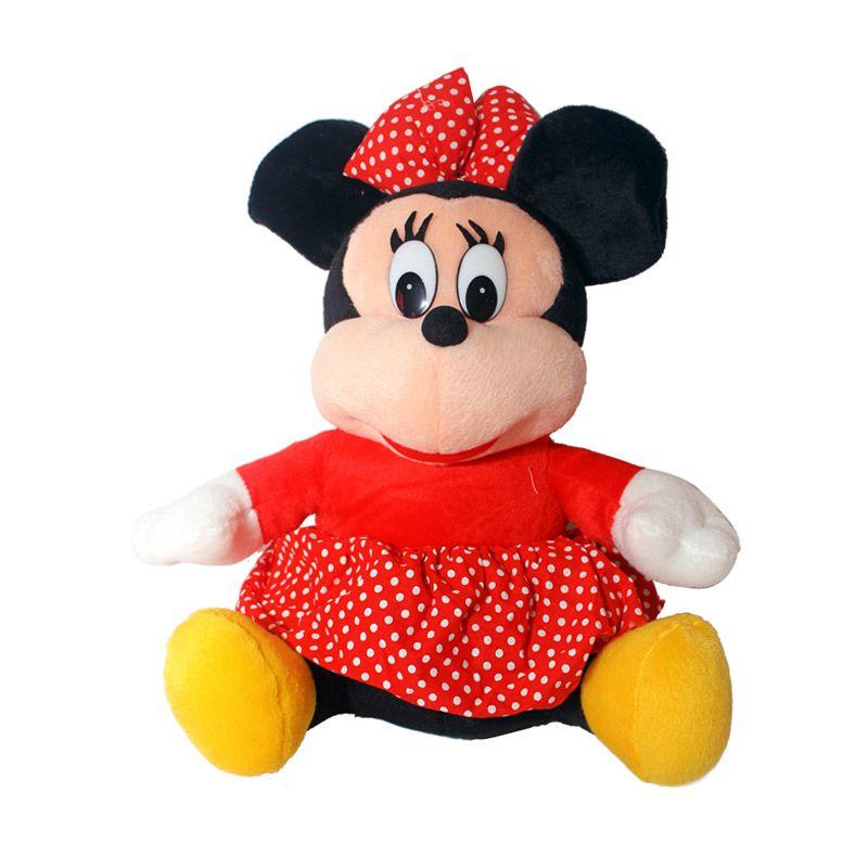 Istana Kado Online Sitting Disney Character Minnie Mouse Boneka [15 Inch]