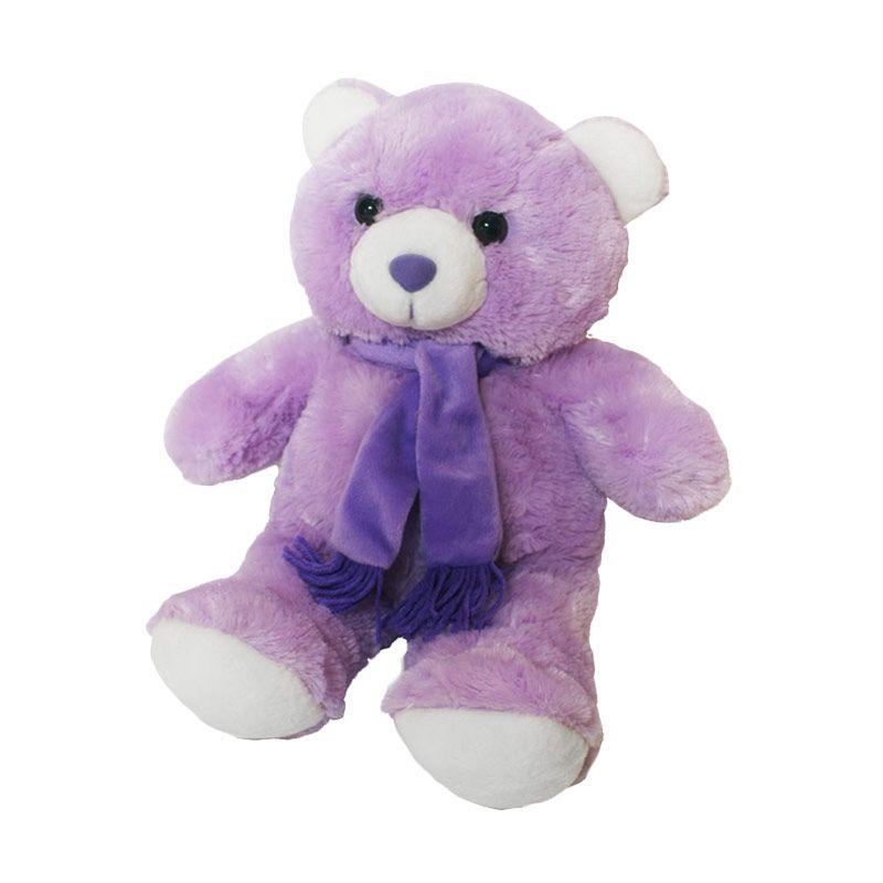 Istana Kado Online Teddy Bear Syal Purple Boneka [20 Inch]