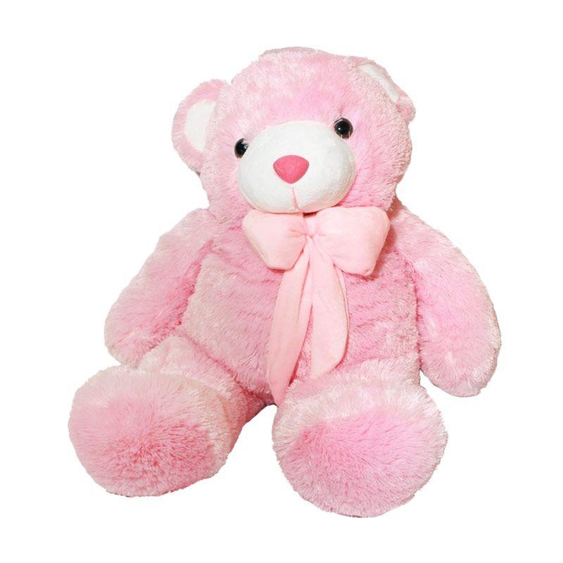Istana Kado Online Teddy Bear Timmy Pink Boneka [36 Inch]