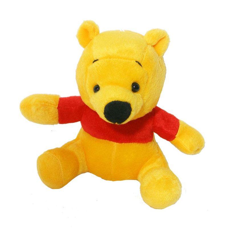 Istana Kado Online Sitting Disney Character Cop Pooh Boneka [8 Inch]