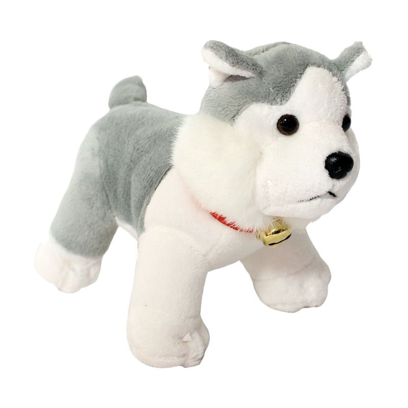 Istana Kado Online Sitting Dog Assorted Husky Gray Boneka [6 Inch]