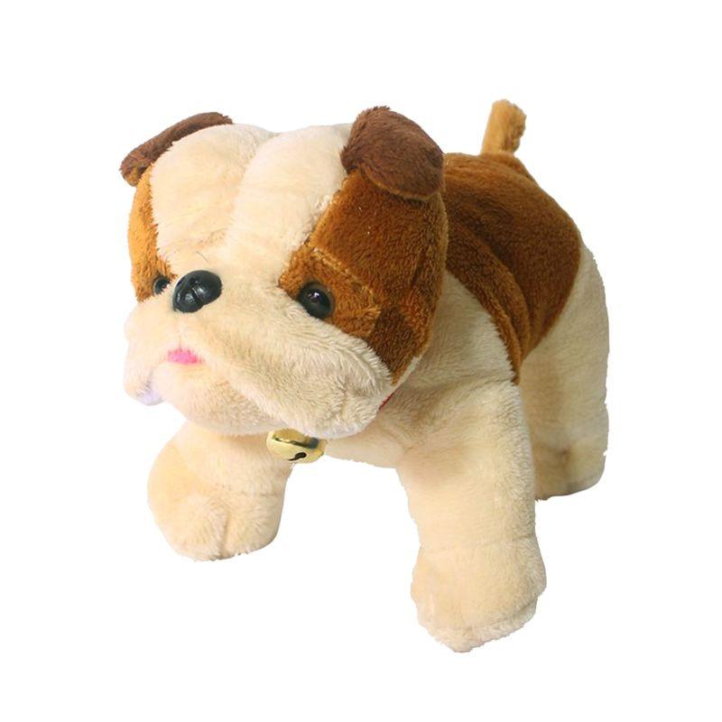 Istana Kado Online Sitting Dog Assorted Pugs Coklat Boneka [6 Inch]