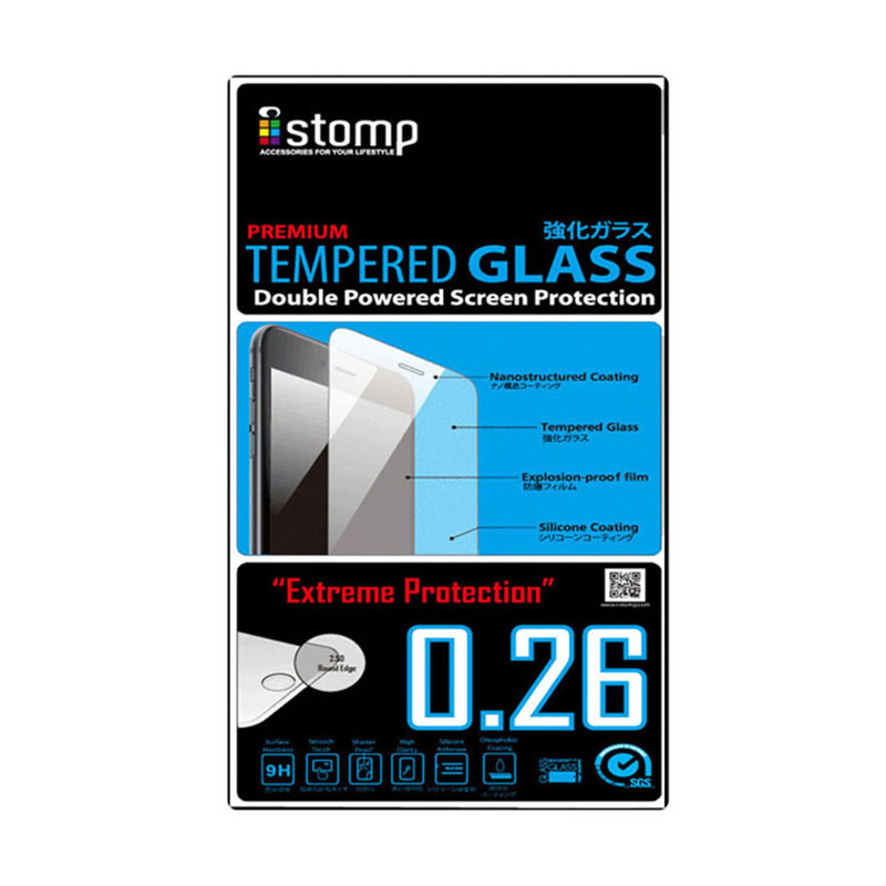 iStomp Premium Tempered Glass Screen Protector for Samsung Galaxy Mega 2 - Transparant