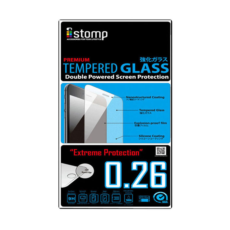 iStomp Premium Tempered Glass Screen Protector for Sony Xperia Z3 Compact - Transparant