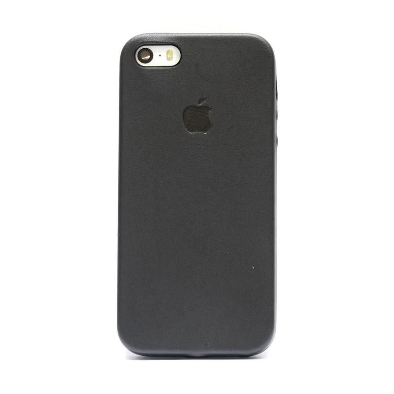Hog Simply Leather Black Casing for iPhone 5 or 5s