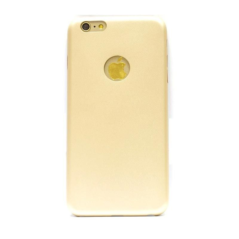 Hog Thin Leather Gold Casing for iPhone 6 Plus