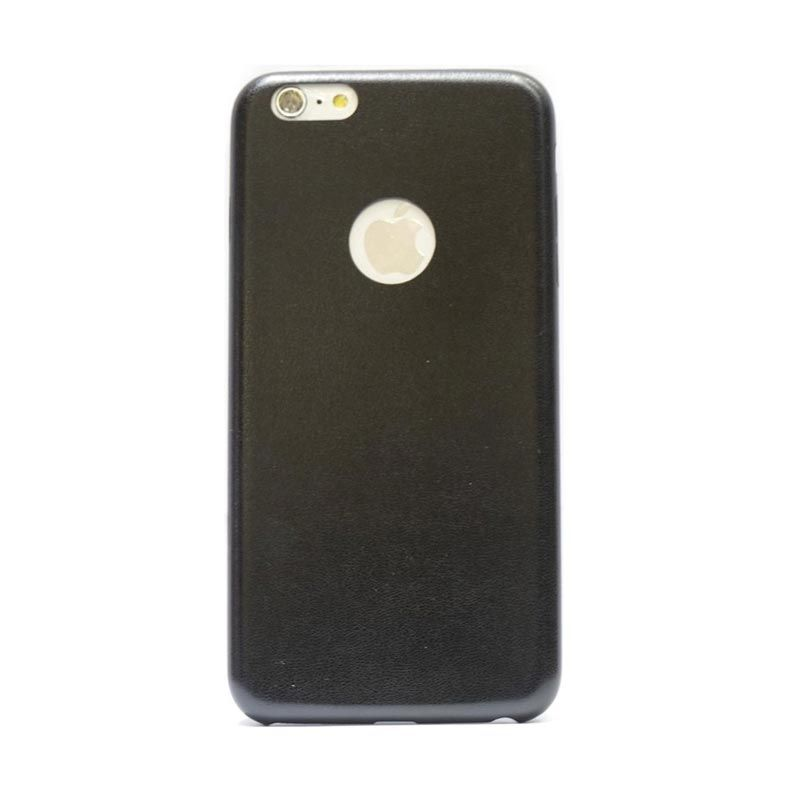 Hog Thin Leather Hitam Casing for iPhone 6 Plus