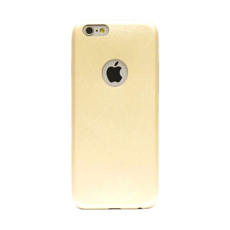Hog Thin Leather Gold Casing For Iphone 6