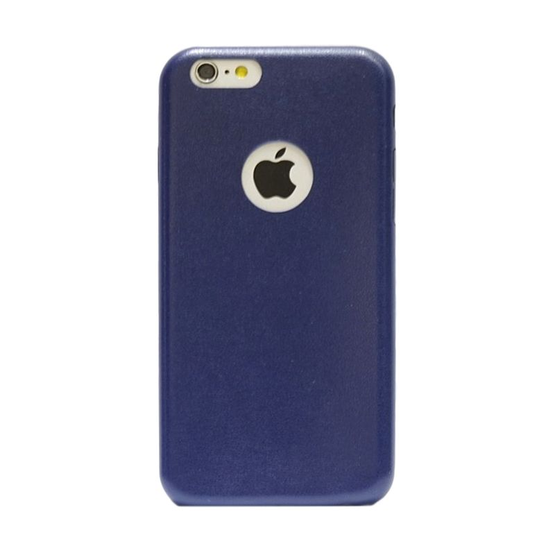 Hog Thin Leather Navy Blue Casing For Iphone 6