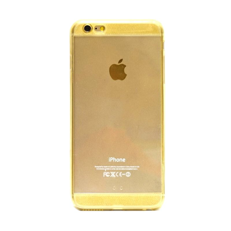 Hog TPU Diamond Gold Casing for iPhone 6 Plus
