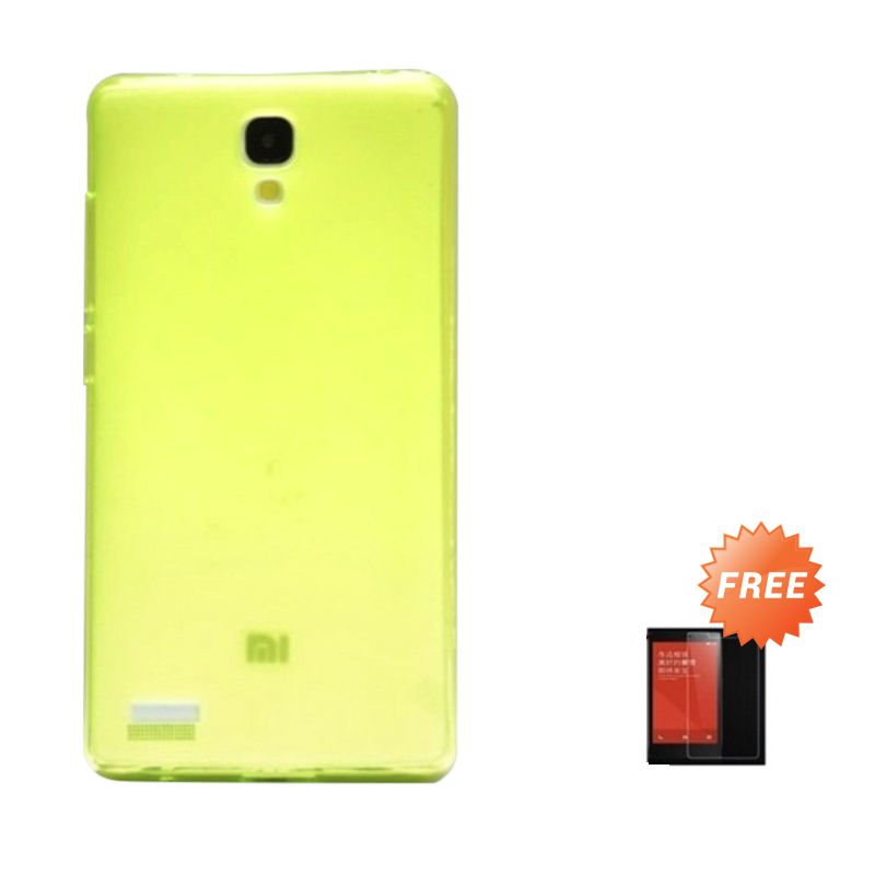 Hog TPU Dove Hijau Softcase Casing for Xiaomi Redmi Note + Tempered Glass Screen Protector