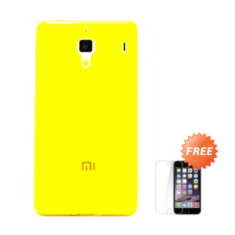 Hog TPU Dove Kuning Softcase Casing for Xiaomi Redmi 1s + Tempered Glass Screen Protector