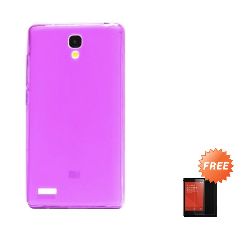 Hog TPU Dove Pink Softcase Casing for Xiaomi Redmi Note + Tempered Glass Screen Protector