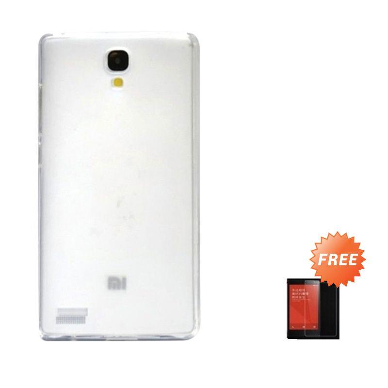 Hog TPU Dove Putih Softcase Casing for Xiaomi Redmi Note + Tempered Glass Screen Protector